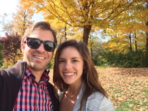 Katie and Matt checking out the beautiful Fall Foliage of Indianapolis! Thanks Dolly for the tip!